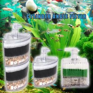 Air Driven Bio Corner Filter Sponge Fry Shrimp Nano tank Fish 40 Aquarium I4D9