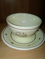 MULINO BIANCO TAZZA e PIATTO 1979 Vintage  ceramica