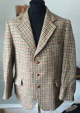 """vintage Harris Tweed ~ houndstooth heavy wool country jacket ~ 116cm R [45.5""""]"""