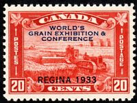 Canada 1933 Grain Exhibition Stamp - Well Centered - Scott 203 - MNH VF