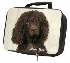 More details for irish water spaniel 'love you dad' black insulated school lunch box b, dad-59lbb