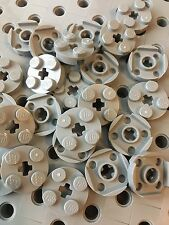LEGO 2x2 Round Light Gray Plate With Axle Hole Pieces New Part 4032 Lot Of 24