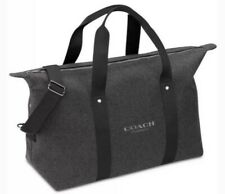 Coach Weekender Heather Gray Duffle Gym Travel Expandable Bag Nwot