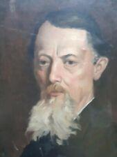 peinture 19eme signée école française portrait d'homme autoportrait ?