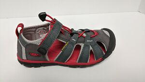 Keen Seacamp 2 Sport Sandals, Grey/Red, Little Kids 1 M