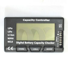 LCD Digital Battery Capacity Checker Controller Tester For NiMH LiFe LiPo Li-ion