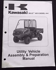 2009 KAWASAKI MULE 4010 DIESEL 4x4 ATV VEHICLE ASSEMBLY PREPARATION MANUAL