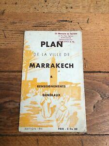 1941 - plan de la ville de marrakech