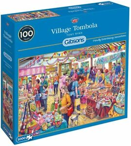 Gibsons G6254 Village Tombola 1000pc Jigsaw Puzzle Set | Brand New