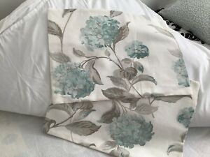 "2 Laura Ashley Hydrangea Duck Egg   Bolster cushion Covers 19""x14"""