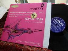 DEBUSSY: 12 Etudes Arabesques La plus que lente > Haas piano / Philips stereo LP