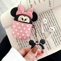 Mickey Minnie Mouse Earphone Cover for Apple Airpods Charging Case Holder Skin