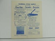 1959 Florida Cycle Supply Catalog Harley Davidson Indian Triumph L1276