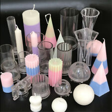 Clear Plastic Candle Making Mold with Base DIY Handmade Church Votive Candle Hot