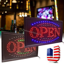 Led Light Flash Motion Business Open Sign Chain Switch 25x48 for Indoor Good