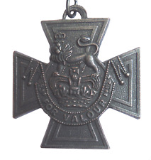 Victoria Cross VC Medal Full-Sized Bronze Plated Pewter Replica With Ribbon