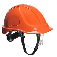 Portwest Endurance Visor Hard Hat Safety Helmet  ORANGE Builders PW55