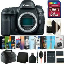 Canon EOS 5D Mark IV DSLR Camera (Body Only) + 64GB Kit + Replacement Battery
