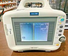 GE DASH 2000 monitor, SPO2, ECG, TEMP, NIBP, and Printer. USED