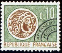 "FRANCE PREOBLITERE TIMBRE STAMP N°123 "" MONNAIE GAULOISE 10c "" NEUF x TB"