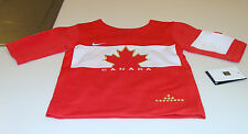 Team Canada 2014 Sochi Winter Olympics Hockey Jersey Infant 12 Months Red