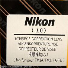 Nikon FM3A/FM2/FA/FE Eyepiece Diopter lens +0 Genuine Nikon Made in Japan