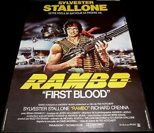 1982 First Blood ORIGINAL BELGIAN POSTER Sylvester Stallone RAMBO Ted Kotcheff