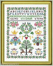 Eva Rosenstand   12-538  Sampler  Tree Heart  Broderie  Point de Croix  Compté