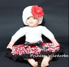 Red & Black Minnie Baby Pettiskirt Pageant Tutu NB-12M