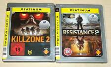 2 PLAYSTATION 3 PS3 SPIELE SAMMLUNG KILLZONE 2 RESISTANCE 2 EGO SHOOTER