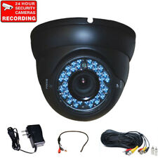 Security Camera Outdoor CCD IR Night Vision w/ Power, Cable and Audio Mic BYG