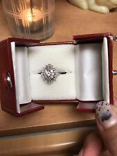 Ladies Platinum diamond cocktail ring