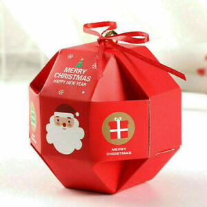 New Christmas Party Bags Bell Sweets Carrier Favour Candy Xmas Gift Boxes