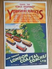 POSTCARD TRAVEL THE KING'S HIGHWAY BY YORKSHIRE SERVICES - LONDON COASTAL COACHE