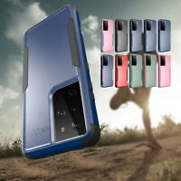 For Samsung Galaxy S21 Ultra S21 Hard Shockproof Hybrid Bumper Armor Case Cover