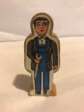 1994 WOODEN MECHANIC PAPER DECAL FIGURE Thomas the Train Engine RARE VHTF Wrench