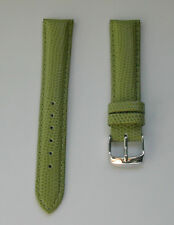 20mm LIZARD GREEN WATCH BAND,STRAP GENUINE LEATHER  W/Quick Release Speed Pins