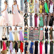 Sommer Damen Lange Maxikleid Abendkleider Strand Party Kleider Ballkleider