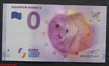 Billet touristique zero €uro , BIARRITZ Aquarium,  2017, neuf