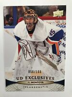 Al Montoya /100 made UD Exclusives Insert Parallel Hockey Card 86 Islanders