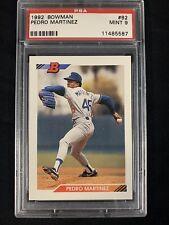 1992 Bowman Baseball #82 Pedro Martinez PSA 9 MINT ROOKIE RC