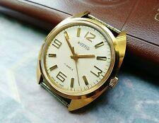 Vostok Old Soviet Vintage Wristwatch Gold Plated AU10 Made in USSR