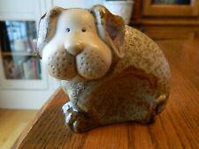 Cute Salt Glaze Pottery Dog Figurine