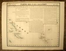 LES ILES SALOMON et SANTA CRUZ carte geographique de VANDERMAELEN 1827