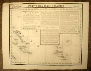 The Solomon Islands And Santa Cruz map Geographic of Vandermaelen 1827
