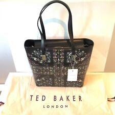 Ted Baker Black Unity Flag Shoulder Handbag Floral Tote Bag