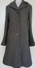 DKNY Grey Wool Blend Coat Size 6