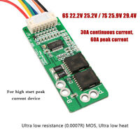 6/7S Li-ion Lithium Charger Battery Protection Board 60/30A 25.2V 29.4V lipo BMS