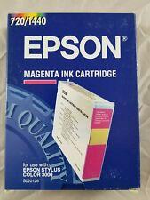 Genuine Epson Stylus Color 3000 Magenta Ink Cartridge  S020126
