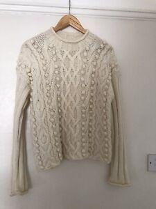Karen Millen 100% Wool Jumper Size 2 Small